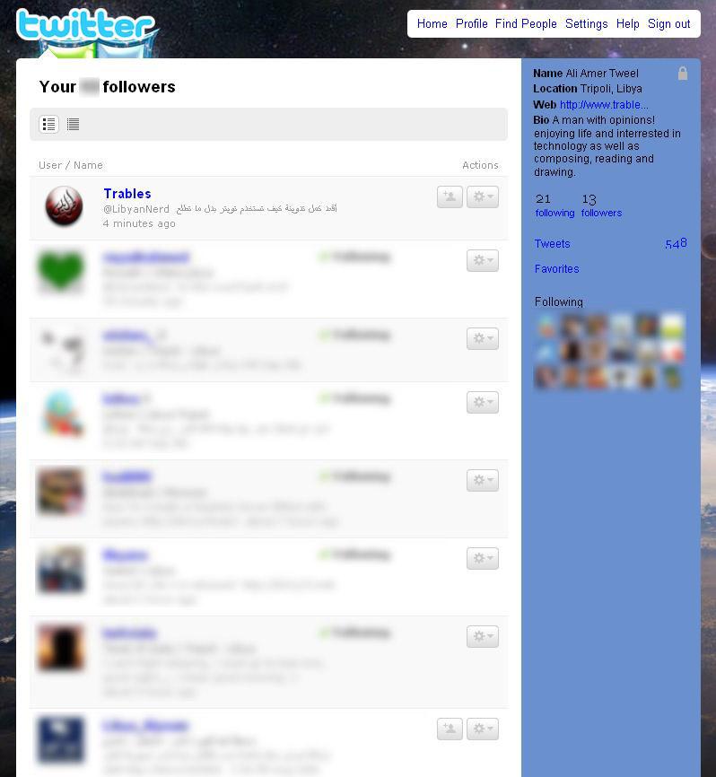 قائمة متابعين LibyanNerd
