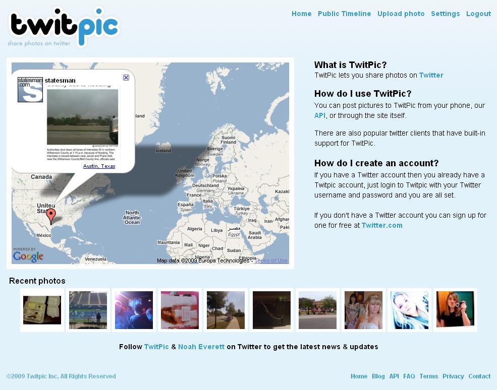 خدمة Twitpic تستخدم نفس معلومات دخولك لحسابك في Twitter