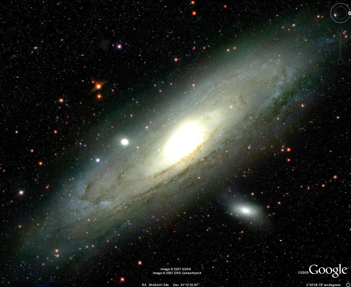 مجرة أندروميدا (إضغط لتكبير الصورة)