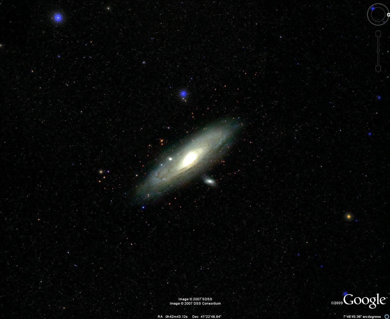 مجرة أندروميدا عن بعد (إضغط لتكبير الصورة)