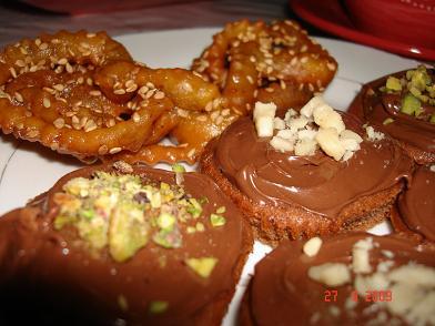 Cupcake مع شوكولا النوتيلا واللوز والفستق