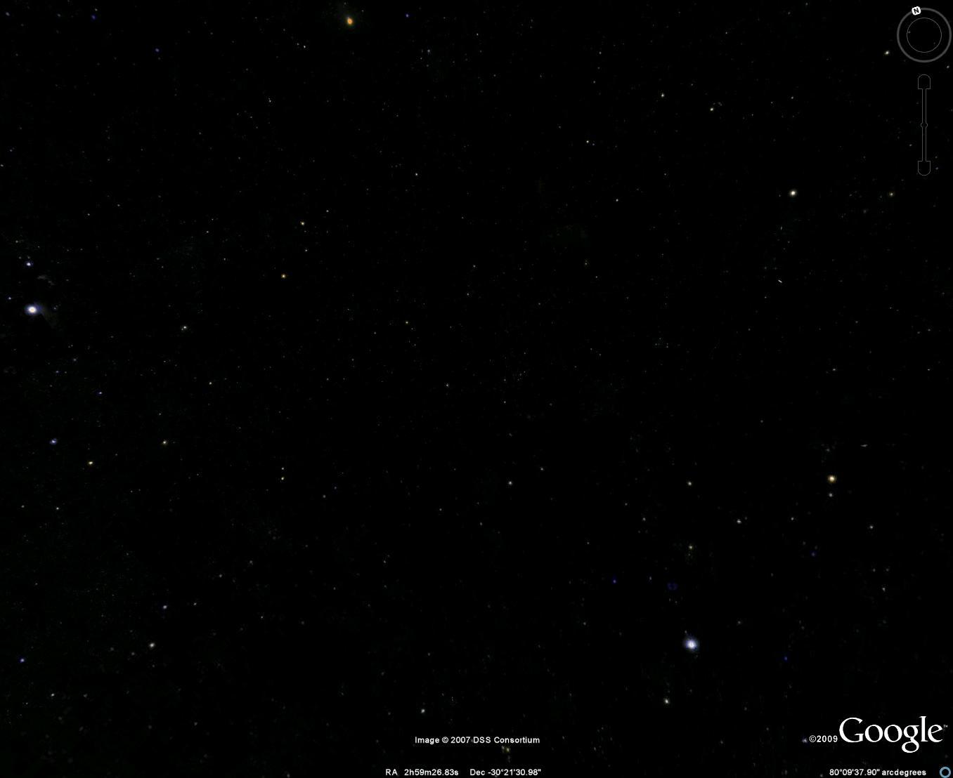 السماء بالتلسكوبات العادية (إضغط لتكبير الصورة)