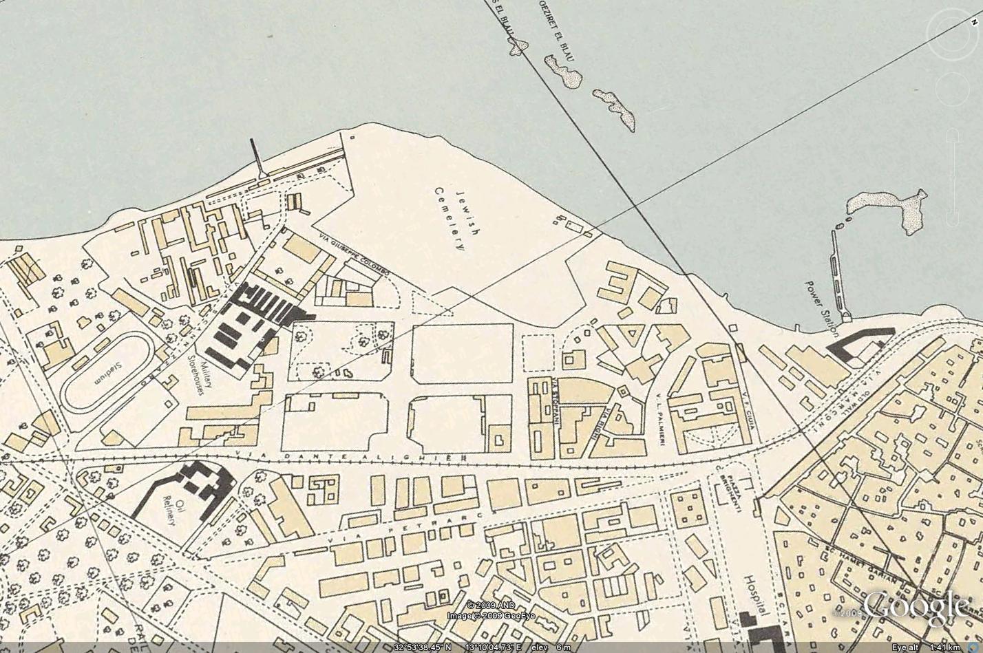 منطقة الأبراج في الساحل 1943 (هل أرى مقبرة لليهود؟)