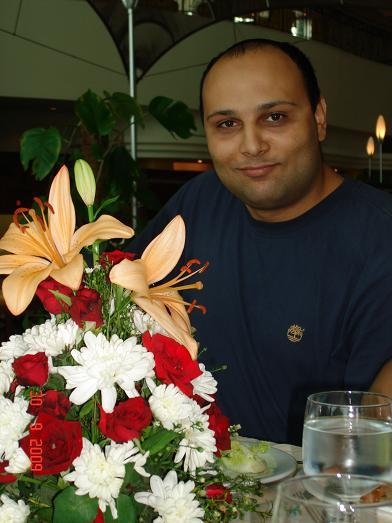أنا والأزهار :-)