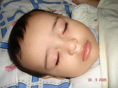 نوم هاديء بعد عاصفة بكاء