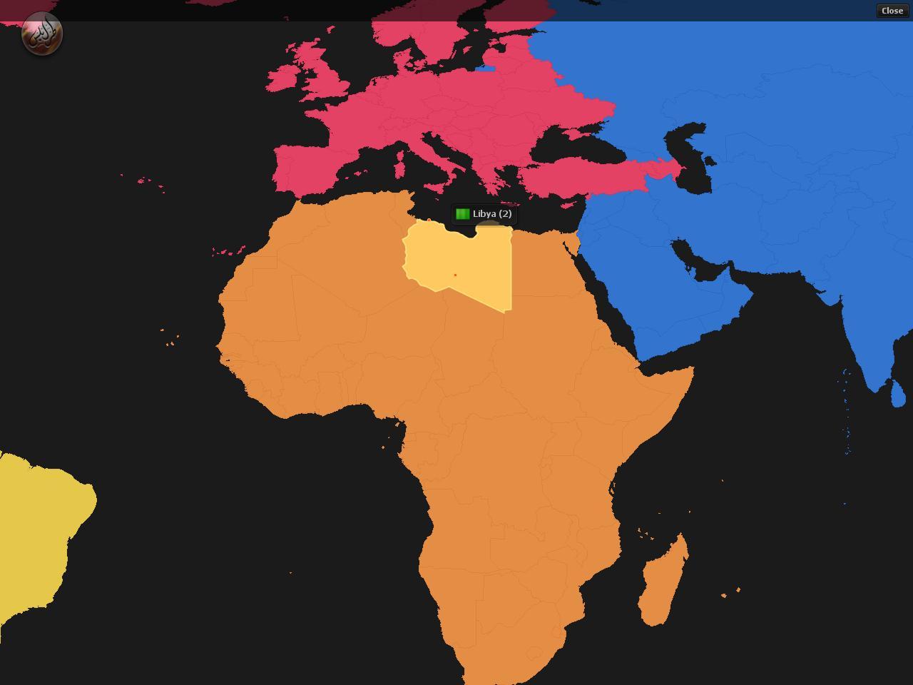 زائرين لمدونتي على الخريطة