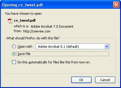 تخزين السيرة الذاتية على هيئة ملف PDF