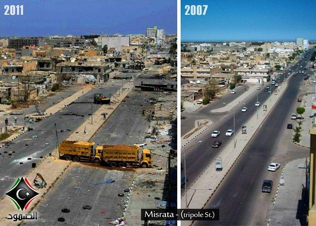شارع طرابلس بمدينة مصراتة
