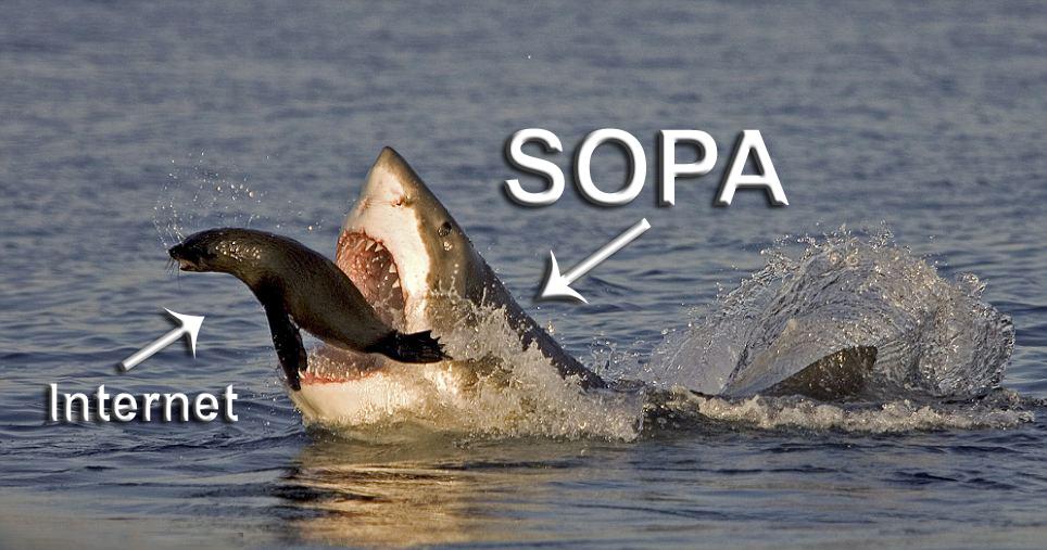 قانون SOPA والإنترنت