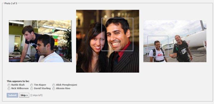 التعرف على الأصدقاء بواسطة الإشارة الموجودة في بعض الصور