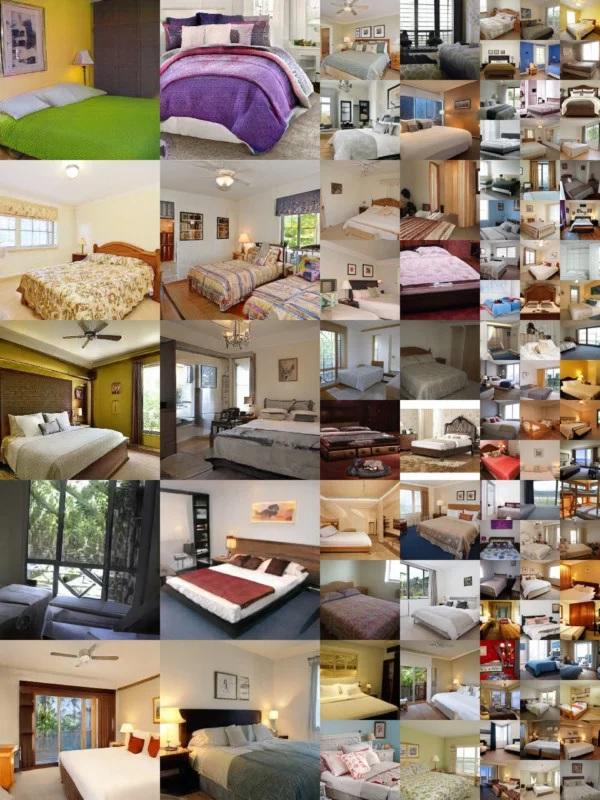 صور غرف نوم مولدة بواسطة ذكاء إصطناعي
